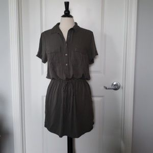 Gap military style shirt dress army green color